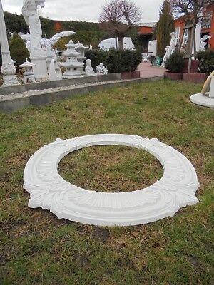 Baumumrandung, Baumringe 4 Elemente, Skulptur Steinguss Gartenfiguren Gartendeko 5