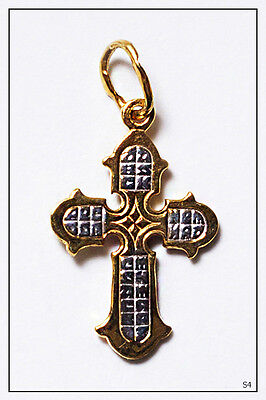 Russian Orthodox Silver Gold Cross For Baby Christening Pendant JC  (S4) 2