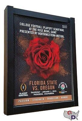 "Sports Program Display Frame Lot of 2 Magazine Black Standard Size Over .5"" Deep"