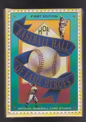 BASEBALL HALL OF FAME HEROES OFFICIAL BASEBALL CARD STAMPS 1st EDITION SEALED 2