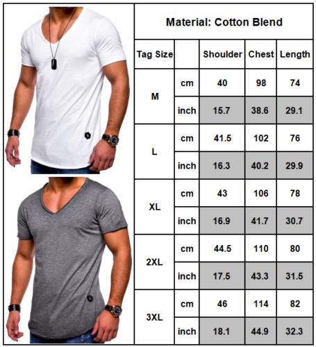 498ea7cc78256 T-Shirts Herren Kurzarmshirt Bodybuilding Muskelshirt Sommer Slim Fit  Oberteil 3 3 von 3 Siehe Mehr