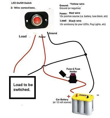 WATERPROOF ROCKER TOGGLE Switch SPST Socket 12V Marine Blue LED Panel  Dashboard