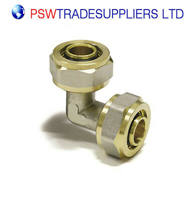 Elbow double 16mmx16mm PEX-AL-PEX BRASS COMPRESSION FITTINGS