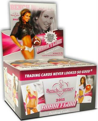 """Factory Sealed,2011 """"Bench Warmer"""" Bubble Gum Trading Cards,24 Packs Per Box 4"""