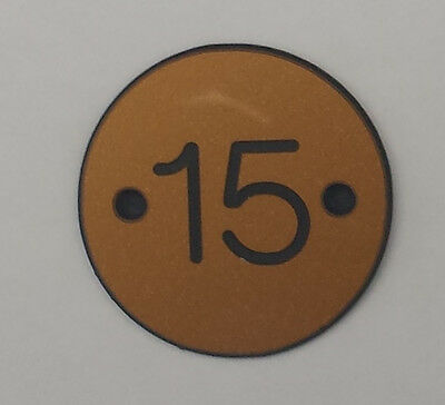 Engraved Table Numbers Black or Gold Disc Colour Suitable For Indoors/Outdoors 3