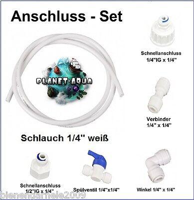 1 Wasser Anschluss SET für Kühlschrank Filter Wasserfilter Osmoseanlage Aquarium 2