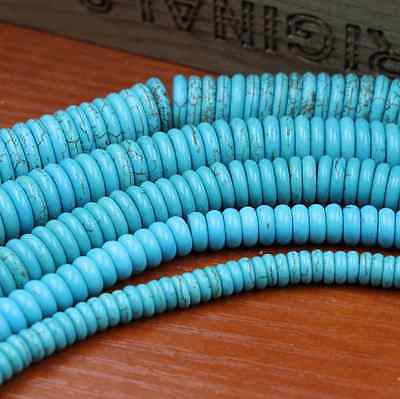 Natural Turquoise Gemstone Heishi Beads Spacer 4mm 6mm 8mm 10mm 12mm 3