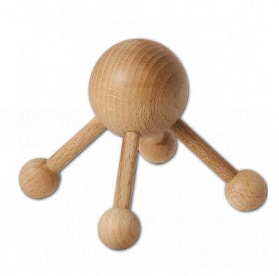Holz Handmassageroller 8 Räder Massageroller Massage Akupressur Massagegerät