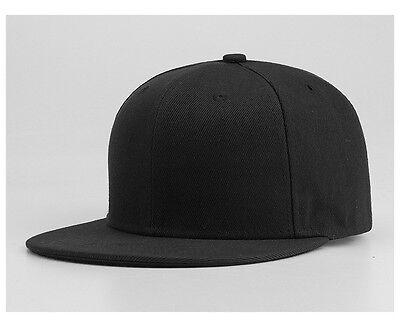 Snapback Baseball Cap Plain Hip Hop Retro Classic Vintage Funky Golf Flat Hat 3