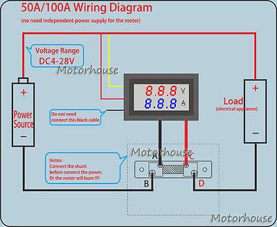 Fantastic Digital Led Voltmeter Ammeter Dc Panel Voltage Current Meter 12V 24V Wiring Digital Resources Cettecompassionincorg