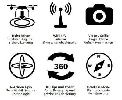 DroneX Pro© - Deutschlands bekannteste Quadrocopter-Drohne - Mit HD-Kamera 6