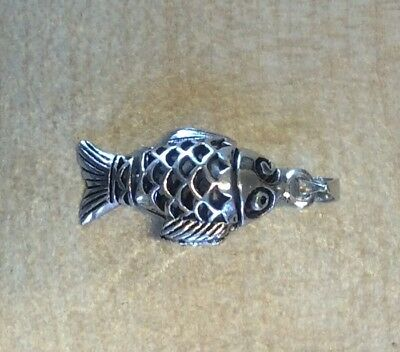 Poisson Argent Sterling Breloque .925 X 1 Poissons Fishing Breloque CER2176