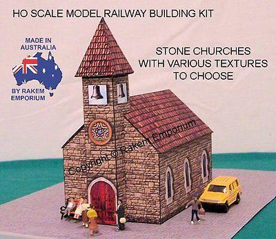 HO Scale Church Stone Model Railway Building Kit