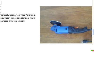Pipe Tube Polisher 10 sanding belt 3 silicon carbide Strip Wheel metal iron wood