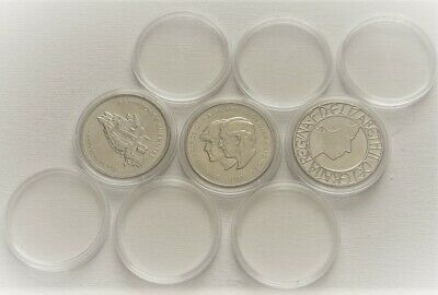 Coin Capsules Cases 39mm [ £5,CROWN,1oz silver ] 10,20,50,100 capsules Plastic 2