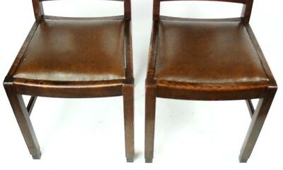 Art Deco pair of Oak Wood Dining Chairs | Patina - PRICE IS FOR PAIR [PL2033B] 9