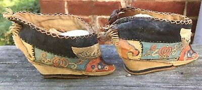 668be75458ad3b ... ANTIQUE Chinese Foot Bind Bound Feet Lotus Shoes Handmade Hand  embroidery 2
