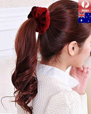 12/16/20 PCS Pack Velvet Elastic Hair Bands Scrunchies Scrunchy Women Girls 2