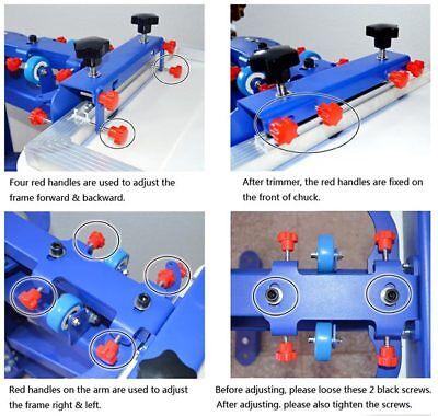 6 Color 6 Station T-Shirt Siebdruckmaschine Micro-Adjust Drehbar Maschine 5