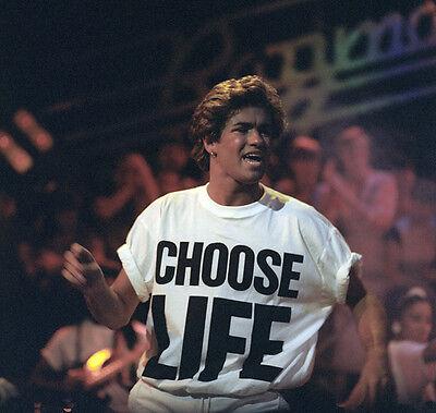CHOOSE LIFE T Shirt Wham Replica George Michael 80s Retro Fancy Dress S-3XL Lot 3