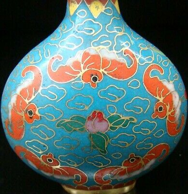 Collectibles 100% Handmade Painting Brass Cloisonne Enamel Snuff Bottles 088 2