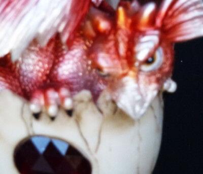 "GARNET   JANUARY     Birthstone Dragon in Egg Shell    4/""   Figure Statue"