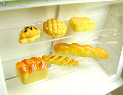 6pc Dolls House Miniature Kitchen Food Bread Toast Bakery Pastry Shop Decor 1:12 4