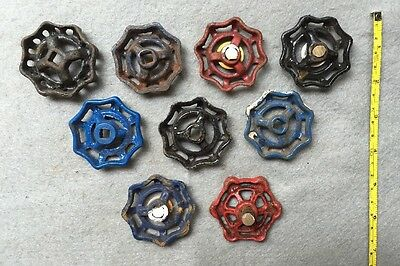 Lot Of 9 Vintage Heavy Metal Water Faucet Handles Knobs Valves Steampunk Lot#14 5