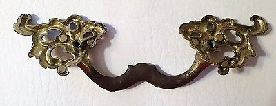 "antique hardware Rococo vintage french provincial drawer pull 3 1/4"" centers 6"