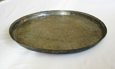 Antique big copper baking dish tray Ottoman Turkish hand hammered solid copper 2
