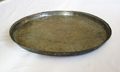 Antique large copper baking dish tray Ottoman Turkish handhammered solid copper 2