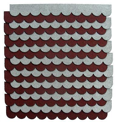 2m²,5-Sets Mini-Dachschindeln Anthrazit,Pappe,Vogelhäuser,Vordach,Briefkasten,