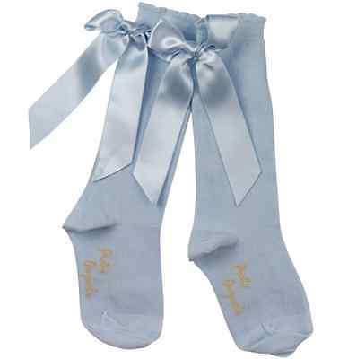 BNWT Girls Classic Knee Length Socks with Bows by Pretty Originals 2