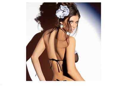 Completo Costume Sexy Cameriera Maid 5 Pezzi G-String Giarrettiera Reggiseno 6
