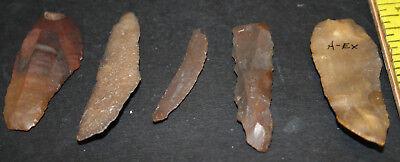 10 Egyptian Faiyum Predynastic Flint Flaked Hand Stone Tools 7400-6400 BC #5