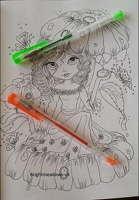 4 Of 5 Lacy Sunshine Enchanted Kingdom Adult Colouring Book Fantasy Fairies Dragons