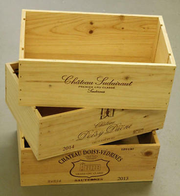 6 x GENUINE FRENCH WOODEN WINE CRATES BOXES  PLANTER HAMPER DRAWERS STORAGE..... 5