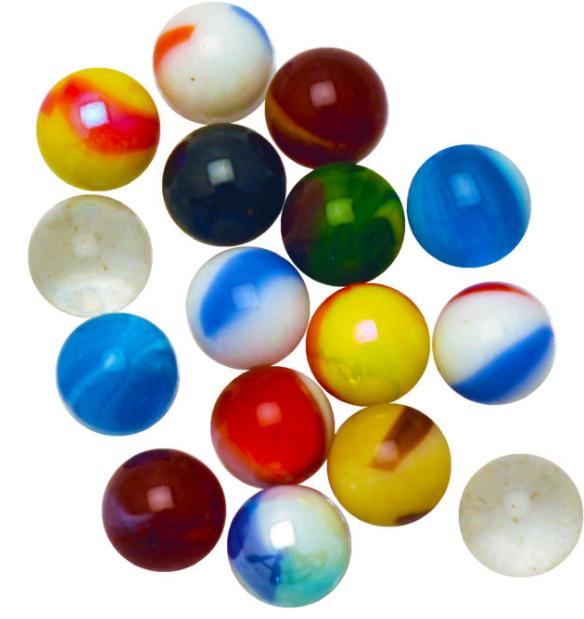Bag of 100 Premium 12mm Peewee Marbles 2