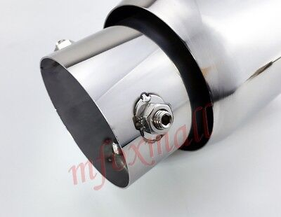Chrome Car Accessory 76mm 3 Inch Calibre Tail Muffler Pipe Rear Exhaust Tip Trim