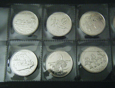 1999 Canada Millennium 12 coin set Quarter 25 cent 25c Canadian Uncirculated BU 3