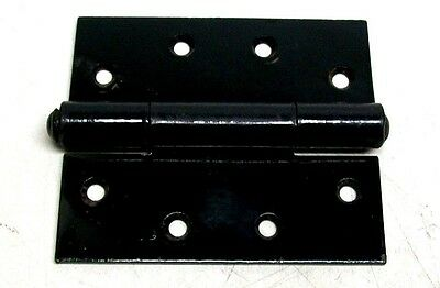 "Lot Of 5 Nos Vintage 5 1/2"" X 4 3/4"" Black Japanned Welded Pin Butt Hinges Dm"