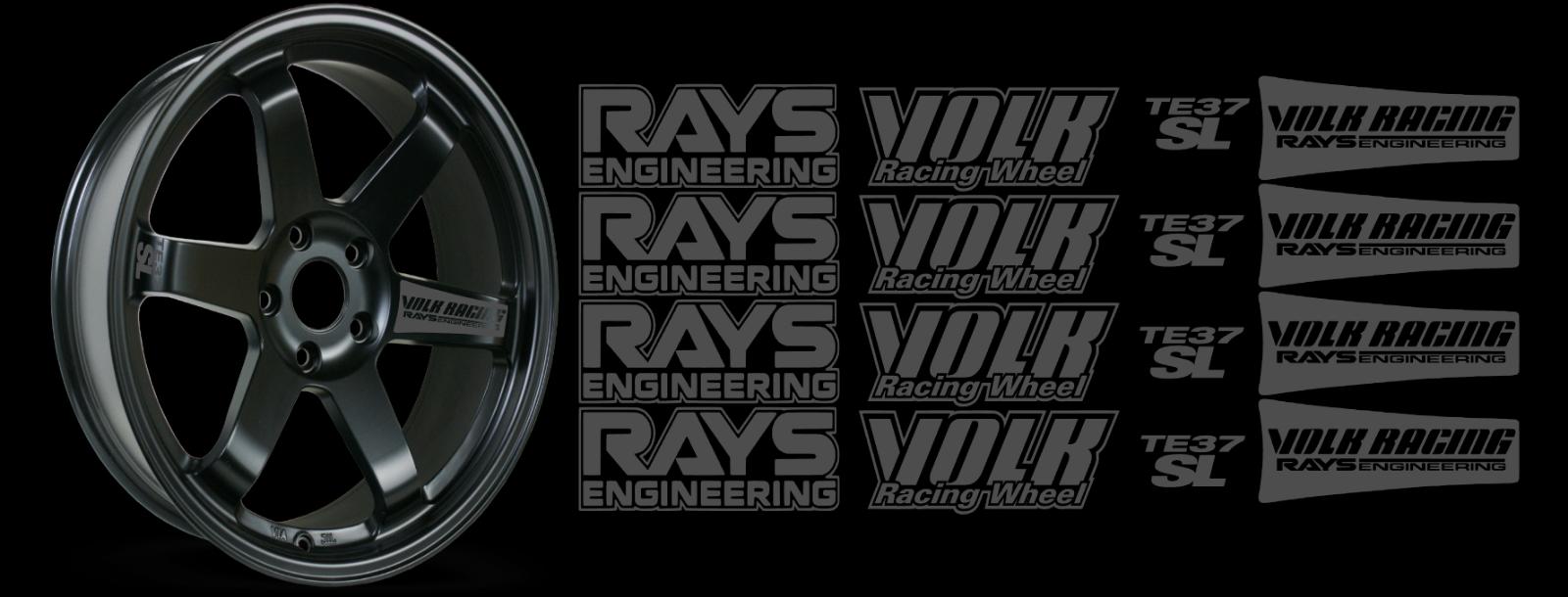 JDM Reflective RAYs VOLK Racing TE37SL Wheel 16 sticker decal Drift 7