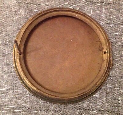 Antique Clock Case Spare Parts Bezel Back Door Unusual Carriage Handle 3