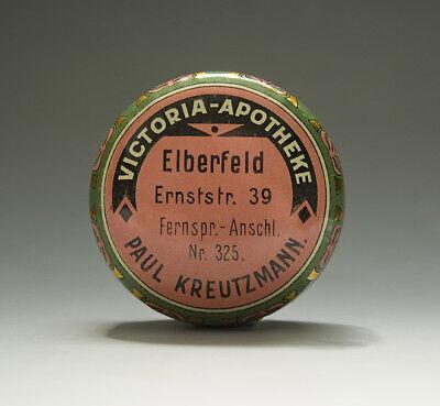 Jugendstil Blechdose VICTORIA mit ENGELMOTIV (aus Wuppertal) um 1910