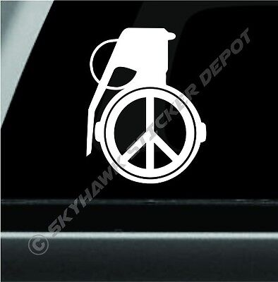 Die Cut Vinyl Decal Peace Symbol Wings Hippie 20 Colors Car Truck ATV #A60