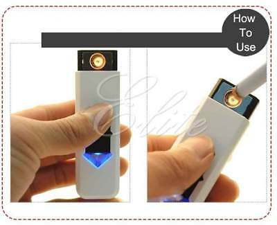 New Slim Usb Lighter Rechargeable Cigar Cigarette Flame less Electronic Lighter 4