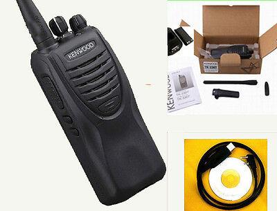 CABLE/&software Freeship TK-2207 KENWOOD RADIO vhf136-174MHz 2-Way WALKIE TALKIE
