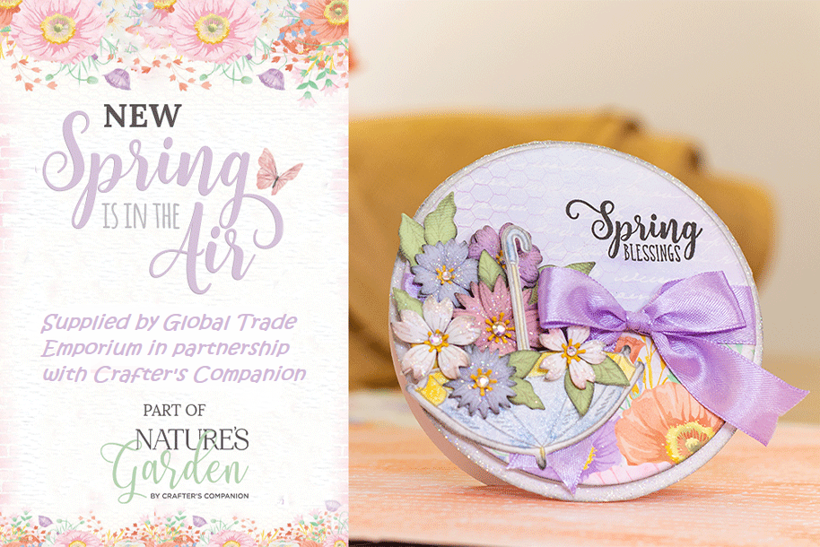 Nature/'s Garden SPRING IS IN THE AIR Collection by Crafters Companion New Range