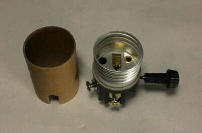 New On/Off Turn Knob Lamp Socket Interior w/ 1/8F Hickey & Paper Insulator 110i 2