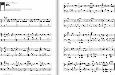 NEW History Of BTS Piano & Lyrics K-POP Bangtan Boys Piano Note Smyang Kpop BTS 6